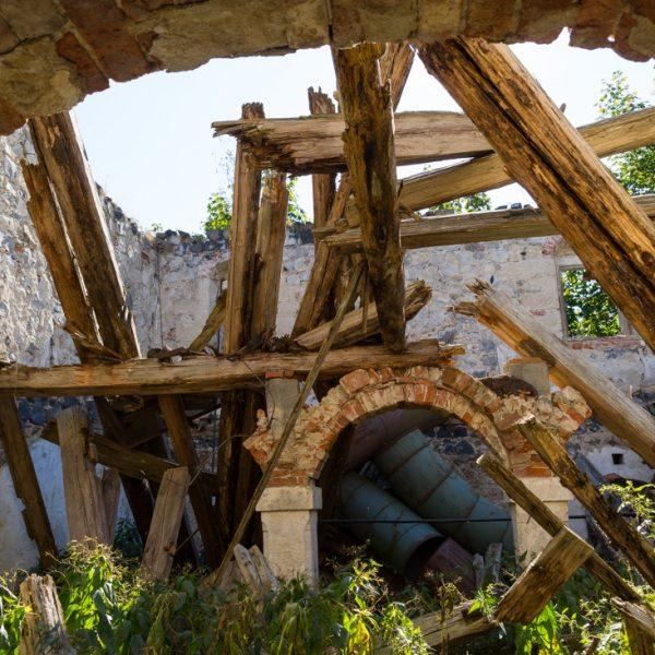 Blick in die Ruine vom alten Kammergut in Rennersdorf-Neudörfel