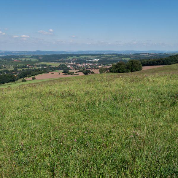 Ausblick nahe der Quohrener Kipse in Richtung Kreischa und Elbsandsteingebirge