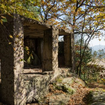 Ruine des alten Gasthauses auf dem Kleinen Bärenstein