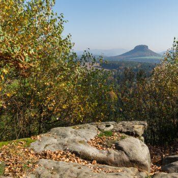 Ausblick vom Kleinen Bärenstein zum Lilienstein