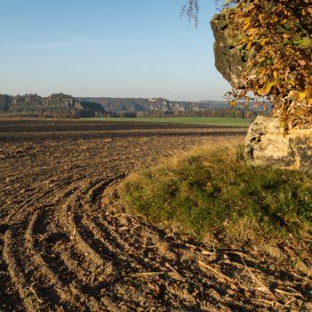 Wanderung bei den Eulensteinen, Blick in Richtung Rauenstein
