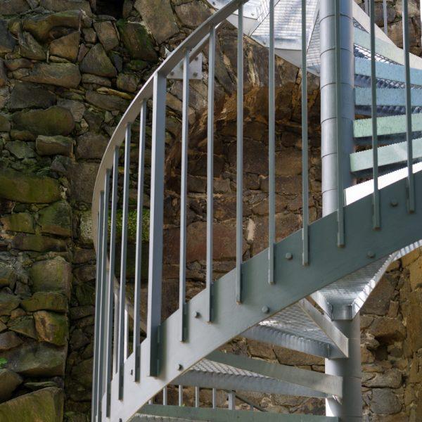 Treppe an der künstlichen Ruine Pillnitz