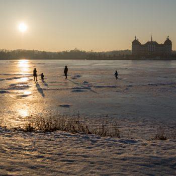 Winterstimmung am Schlossteich Moritzburg