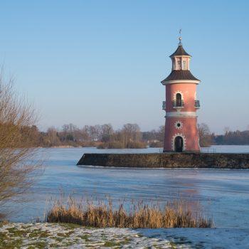 Leuchtturm am Großteich in Moritzburg