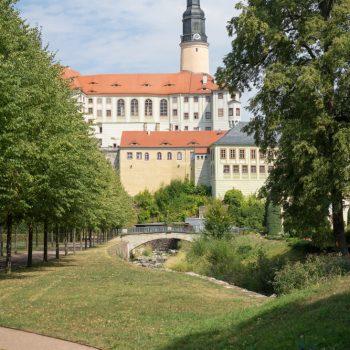 Schloss Weesenstein, im Schlossgarten