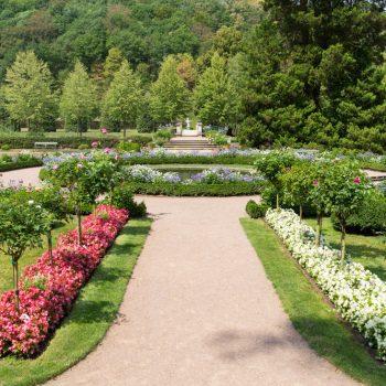 barocker Garten von Schloss Weesenstein