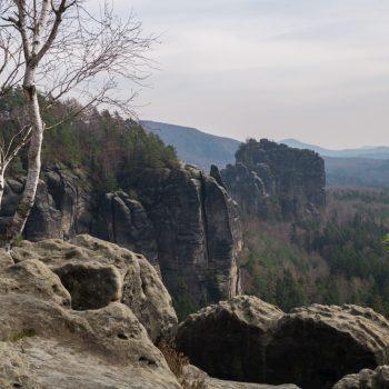 Ausblick Breite Kluft, Schrammsteine