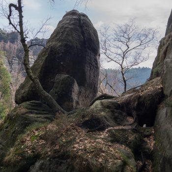 Wanderung Schrammsteine, Aufstieg Heilige Stiege