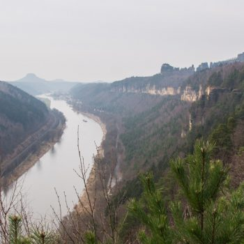 Ausblick von der Kleinen Bastei nach Bad Schandau