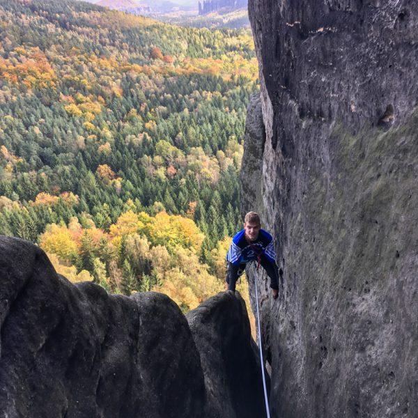 Schusterweg, Klettern am Unteren Reitgrat