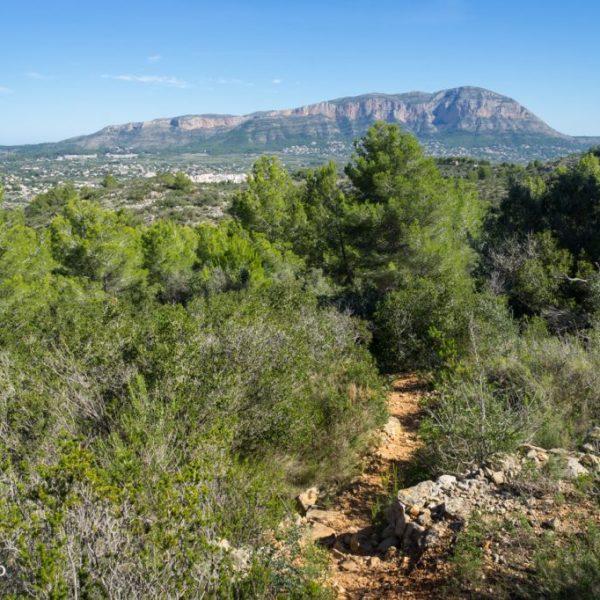 Wanderung in der Sierra de Seldetes mit Ausblick auf den Montgó, Spanien