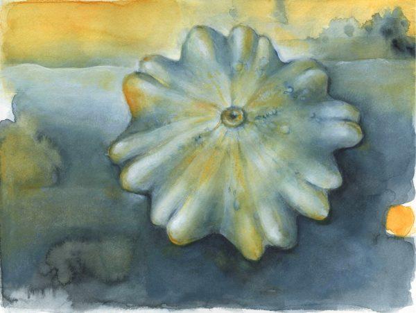 Kürbis | Stillleben | Aquarell- und Acrylfarbe auf Papier | 300 x 230 mm | 2010