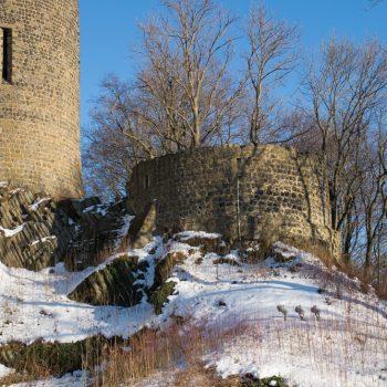 Die Burgmauern von Stolpen