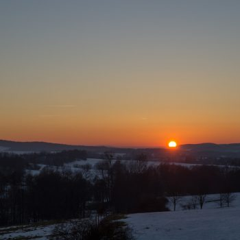 Abendlicht mit Blick auf das Umland Stolpens