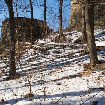 Blick auf die Burgmauern, Stolpen