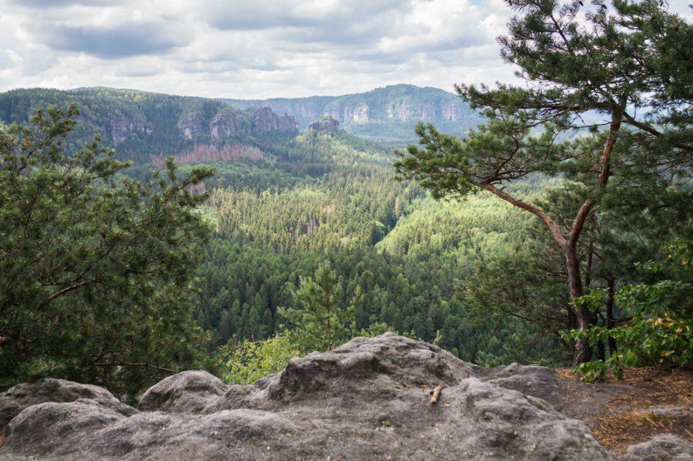 Aussicht vom Teichstein in Richtung Winterstein und Bärenfangwände