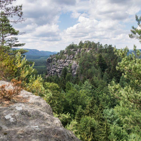 Aussicht vom Teichstein in Richtung Kanstein