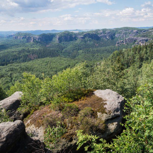 Kipphornaussicht mit Blick auf die Affensteine und Schrammsteine