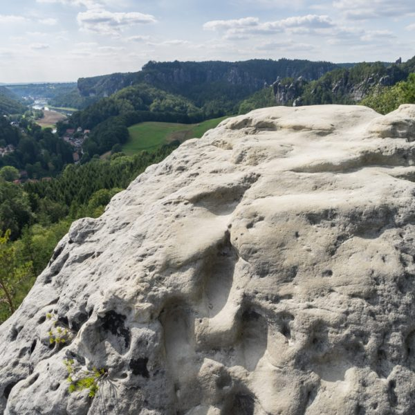 Ausblick vom Gamrig in Richtung Bastei