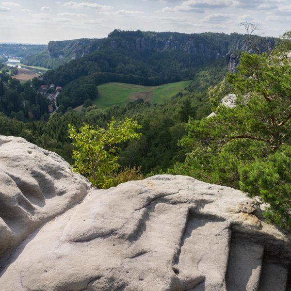 Ausblick vom Gamrig in Richtung Bastei und Elbtal