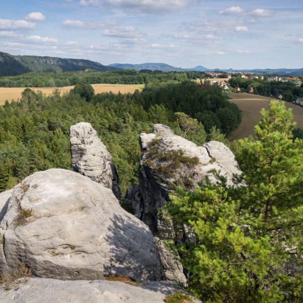 Ausblick vom Gamrig in die Hintere Sächsische Schweiz