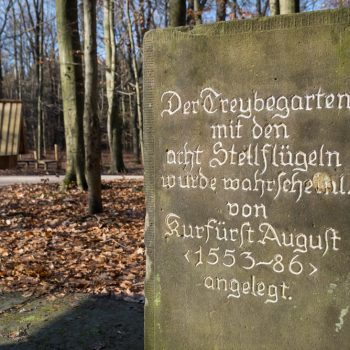 Gedenksäule am Dresdner Saugarten, Dresdner Heide