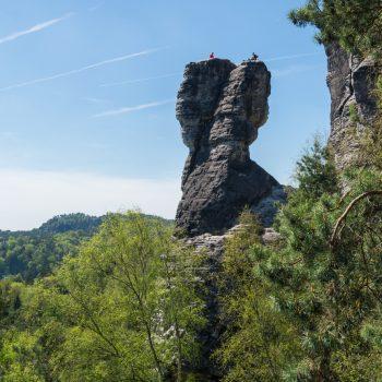 Aussicht auf den Türkenkopf, Sächsische Schweiz