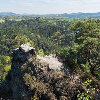 Ausblick in Richtung Gamrig und Schrammsteine