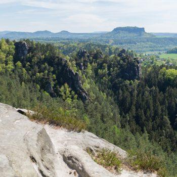Aussichtspunkt am Lamm, mit Blick in Richtung Lilienstein
