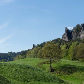 Panoramasicht im Korort Rathen, Sächsische Schweiz