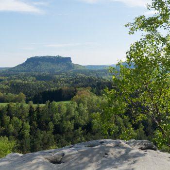 Ausblick vom Gamrig auf den Lilienstein