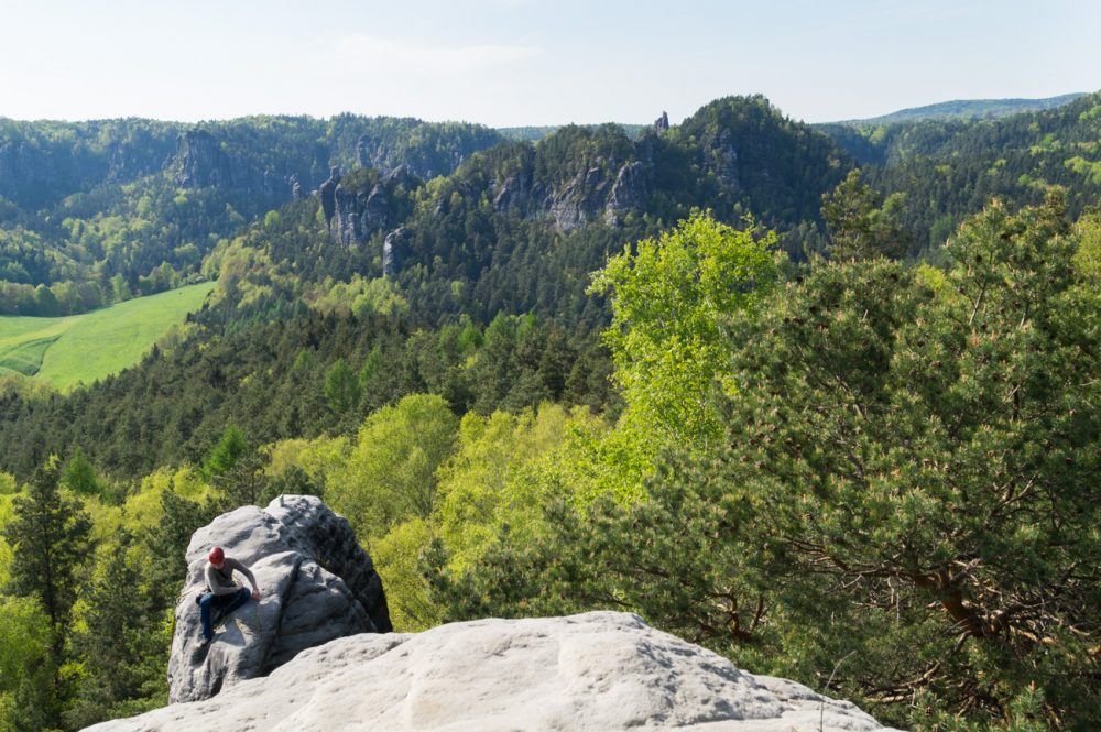 Ausblick vom Gamrig, Sächsische Schweiz