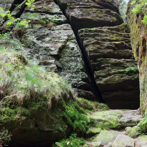 Aufstieg Spitzsteinschlüchte, Felsformationen