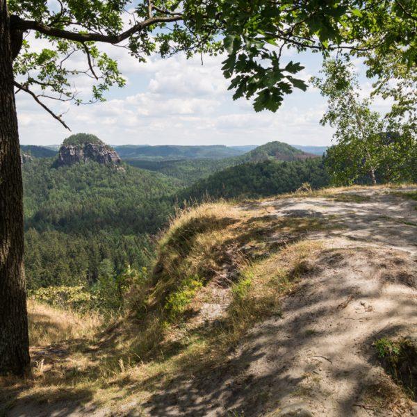 Ausblick vom Winterstein in Richtung Osten zum Teichstein