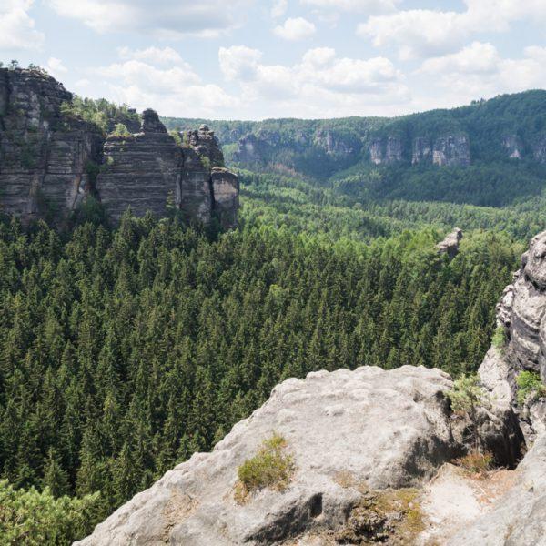 Ausblick vom Winterstein in Richtung Westen zum Kleinen Winterberg