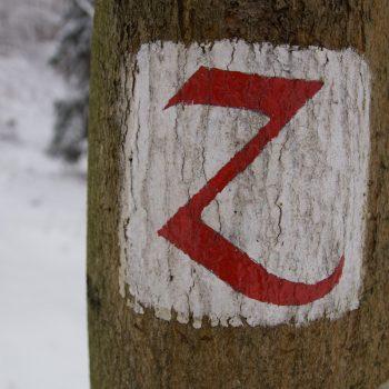 Zweienweg, Wegzeichen Dresdner Heide
