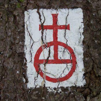 Reichsapfel, Wegzeichen Dresdner Heide