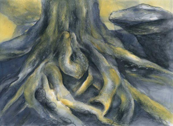 Wurzel | Aquarellfarbe auf Papier | 650 x 450 mm | 2012