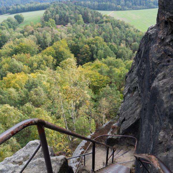 Leitern am Aufstieg auf den Zirkelstein